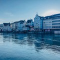 On the banks of the Limmat as the sun rises.- A Zurich Walking Tour