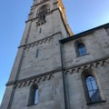 The historic Grossmünster church.- A Zurich Walking Tour