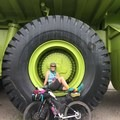 Obligatory large tractor photo.- Women and Bikepacking: Going Solo