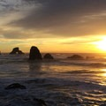 Sunset at Indian Beach, Oregon.- 10 Locations Perfect for Storm Watching