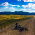 Outside of Falls Campground in Idaho.- Women and Bikepacking: Going Solo