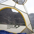 68d mesh and 185t breathable polyester make for durable tent walls.- Mountainsmith Morrison Evo 2