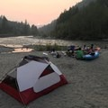 On hot sticky nights like on this white water trip, the Elixir doesn't do quite as well. - Gear Review: MSR Elixir 2 Tent