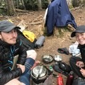Cooking a mid-day meal in inclement weather near Black Tusk. - Gear Review: MSR Whisperlite Universal Stove