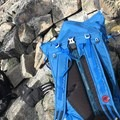 The backpanel is breathable and has decent cushion. In the center you can see the aluminum one-piece stay and narrow shoulder straps. - Gear Review: Mammut Trion Light 38