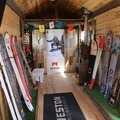 Weston Snowboard's tiny home on display at Outdoor Project's Block Party- Outdoor Project's Denver Block Party 2017