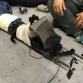Being used to create a stabilizer for mock broken leg. Durable enough to be used with a tarp for carrying a large 200-pound person. - Gear Review: Black Diamond Expedition 3 Ski Poles
