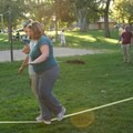 Slack lining at an Outdoor Mindset meet up. Photo provided courtesy of Outdoor Mindset.- Outdoor Mindset: A Community for People with Neurological Conditions
