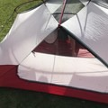 Looking into the interior of the tent.- Gear Review: MSR Elixir 2 Tent
