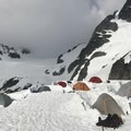 Motel 66 camping on the BCMC 2018 Intro to Mountaineering Course. The Elixir is off to the side. - Gear Review: MSR Elixir 2 Tent