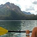 Enjoying some mountain views from water level on Redfish Lake.- 25 Mountain Lake Paddles You'll Love