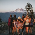 Adventure Mamas backpacking trip to high hut in Packwood, Washington. Photo by Ashley Scheider.- Woman In The Wild: Ashley Scheider
