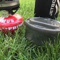 The base protector bowl acting as mediocre tupperwere. It does leak a bit so not a safe soup storage option. - Gear Review: Jetboil MiniMo
