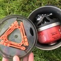 A interior look at storage options. Everything just fits. - Gear Review: Jetboil MiniMo