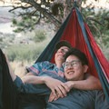 Backyards are always an easy way to get outside and smell the fresh air.- 7 Awesome + Easy Outdoorsy Date Ideas That Don't Suck
