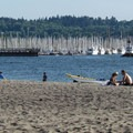 The beach at Golden Gardens Park.- Seattle's 20 Best Beaches + Swimming Holes