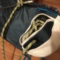Rope compartment with the hole in the base for easy access.- Gear Review: Ultimate Direction Skimo Adventure Vest