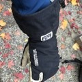 The deep cuff helps keep snow out.- Gear Review: Hestra Army Leather Heli Ski Three Finger Glove