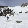 The very beginning of the climb.- Snow Climbing the Baldy Bowl