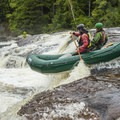 Rafters enjoying the iconic first rapid on the Moshier Section of the Beaver River.- Relicensing the Black River Basin