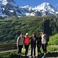 After eight hours of hiking, we made it to our backcountry lodge in Switzerland.- Woman In The Wild: Mary Cecchini