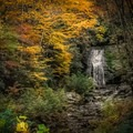 Meigs Falls in the Smokies can be seen while driving Little River Road in the park. - A Guide to Leaf-peeping Weekends in the Blue Ridge Mountains