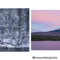 Snow along the Gallatin River by @benschedler. Mount Washington at sunset by @mountainjacks.- Instagrams of the Week - May 29