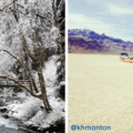 @sryan87 captures a snowy scene in the Olympic Peninsula's Enchanted Valley + @khmanton has fun with depth perception in the Alvord Desert.- Instagram of the Week - May 8