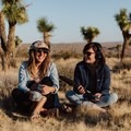 Sound gear-clad Laura with Gale Straub, founder of She Explores. Photo by Jules Davies.- Woman In The Wild: Laura Hughes