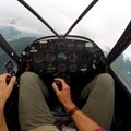 Cockpit view.- Learning to Fly in Moose Pass, Alaska