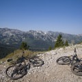 The view in to Big Cottonwood Canyon from the crest.- Mountain Biking in Park City