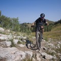 Riding the rocks on the Wasatch Crest.- Mountain Biking in Park City