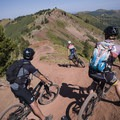 One of the gnarly downhills on the Wasatch Crest Trail.- Mountain Biking in Park City