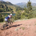 Riding past Desolation Lake.- Mountain Biking in Park City