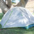 The rainfly can be staked out to provide space to help keep gear dry without it needing to be inside the tent.- Gear Review: Kelty Trail Ridge 2 Tent