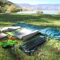 Included in the box: aluminum poles, stakes, guy lines, footprint, tent and rainfly.- Gear Review: Kelty Trail Ridge 2 Tent