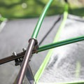 The two color poles show which corners the poles snap into.- Gear Review: Kelty Trail Ridge 2 Tent