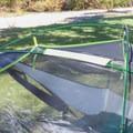 The horizontal pole must slide through a short nylon sleeve.- Gear Review: Kelty Trail Ridge 2 Tent