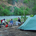 A relaxing camp along the Klickitat River at the Klickitat River Campsite.- Wednesday's Word - Klickitat