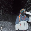 Taking a hot chocolate break along Donut Falls Trail on a cold winter night.- #WhyIHike: Kyle Jenkins