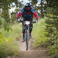 Coming down the downhill at Deer Valley.- Mountain Biking in Park City