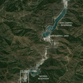 Reservoirs along the San Gabriel River. Image from Google Earth.- Bureau of Reclamation