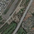 San Gabriel River through greater Los Angeles. Image from Google Earth.- Bureau of Reclamation