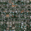 Mayflower Village neighborhood in Los Angeles near the San Gabriel River. Image from Google Earth.- Bureau of Reclamation