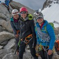 Mandatory summit photo.- Learning to Lead: Forming an All-female Lead Climbing Team