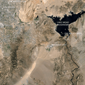 Las Vegas, Lake Mead and the Colorado River. Image from Google Earth.- Bureau of Reclamation