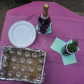 Champagne and centerpieces make everything better.- Girls Who Glamp: Big Sur Style
