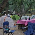 Our fancy camp setup.- Girls Who Glamp: Big Sur Style