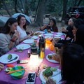 Dinner under the stars in Big Sur.- Girls Who Glamp: Big Sur Style