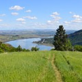Looking east on the Columbia River Gorge from the Lyle Cherry Orchard Trail.- Wednesday's Word - Klickitat